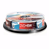 Philips Dvd+Rw 4,7Gb 4Xspeed Spindle 10 Stuks