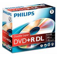 DVD+R DL 5 stuks