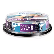 Philips Dvd-R 4,7Gb 16Xspeed Spindle 10 Stuks