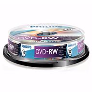 Philips Dvd-Rw 4,7Gb 4Xspeed Spindle 10 Stuks