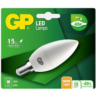 Gp Led Lamp E14 6W 470Lm Kaars Mat