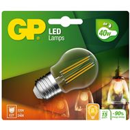 Gp Led Lamp E27 4,4W 470Lm Kogel Filament