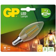 GP Ledlamp Mini Candle E14 4W Filament