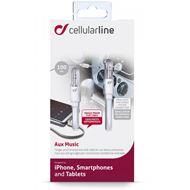 Cellular Line Aux kabel, 1m, wit