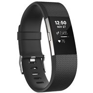 Fitbit Charge 2 Zwart-Zilver L