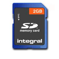 Integral Secure Digital kaart 2GB SD klasse 3