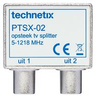 Technetix IEC Opsteek Splitter TV 9.5(F)-2x9.5(M) PTSX02