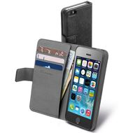 Cellular Line Bookcase Agenda Zwart voor Apple iPhone 5/5S/SE