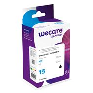 weCare Cartridge compatible met HP 15 Zwart