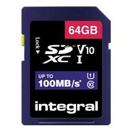 Integral Secure Digital kaart 64GB SDXC V10
