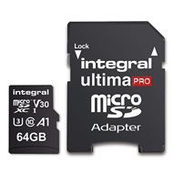 Integral Secure Digital kaart 64GB Micro SDXC V30