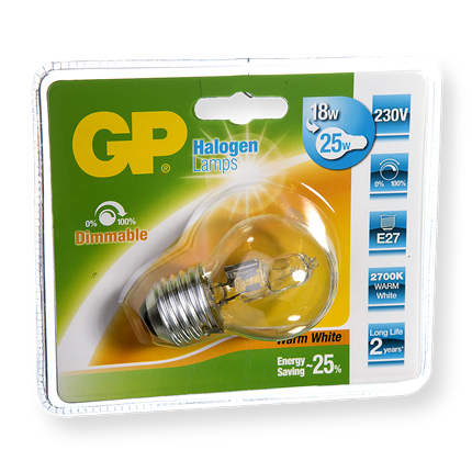 GP Halogeen Mini Globe 18W-E27