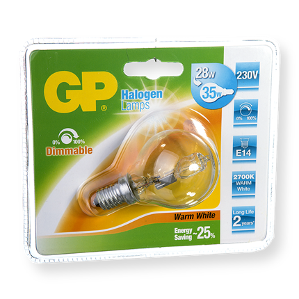 GP Halogeen Mini Globe 28W-E14