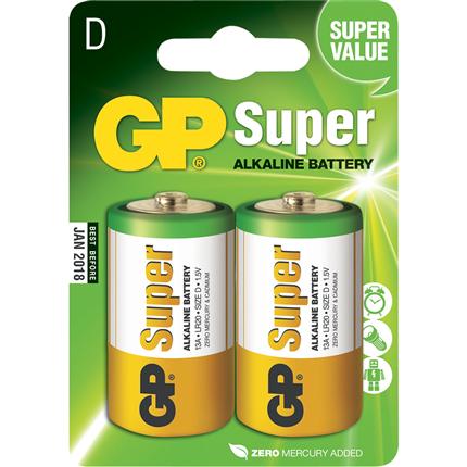GP D 2 stuks Super Alkaline Batterij