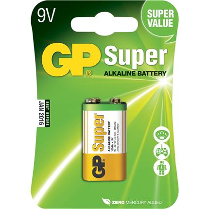 GP 9V Super Alkaline Batterij