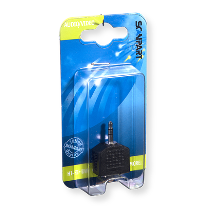 Scanpart Klink Adapter 2x 3.5(F)-3.5(M)