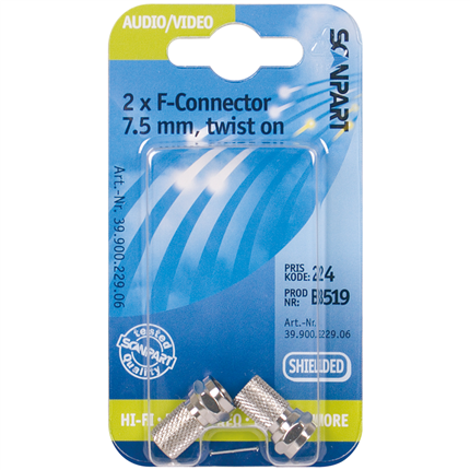 Scanpart F-connector 7.5mm(M) A2