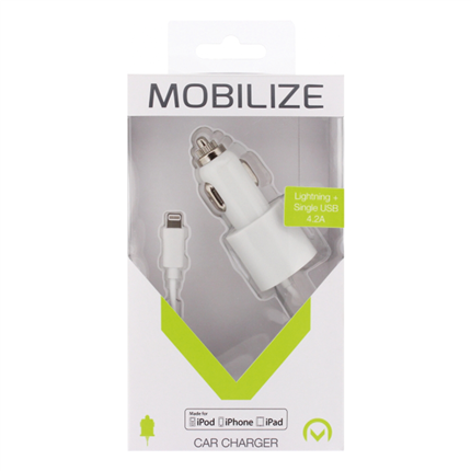 Mobilize Autolader Apple Lightning + Extra Usb