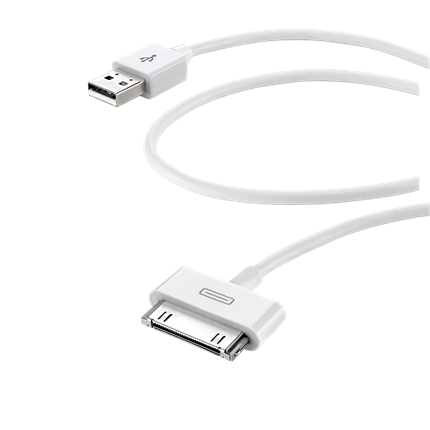Cellular Line Laad+Datakabel Apple Usb 1m