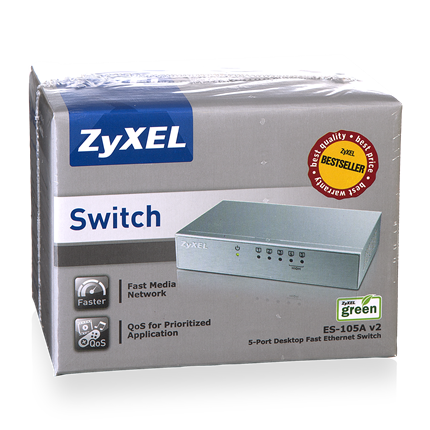 Zyxel Externe 5-Poorts Switch ES-105A