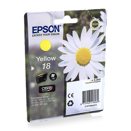 Epson Cartridge 18 (T1804) Geel