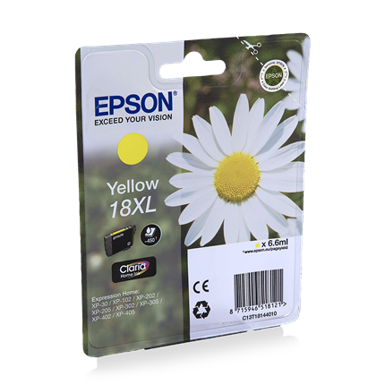 Epson Cartridge 18 XL (T1814) Geel