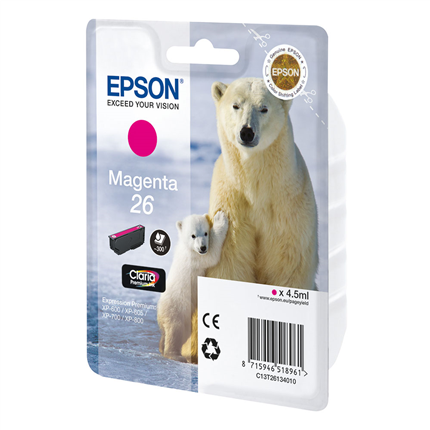 Epson Cartridge 26 (T2613) Magenta