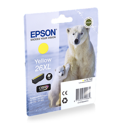Epson Cartridge 26 XL (T2634) Geel