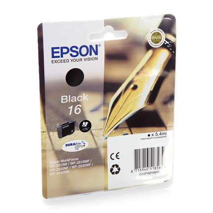 Epson Cartridge 16 (T1621) Zwart