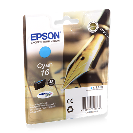Epson Cartridge 16 (T1622) Cyaan