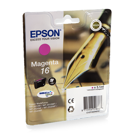 Epson Cartridge 16 (T1623) Magenta
