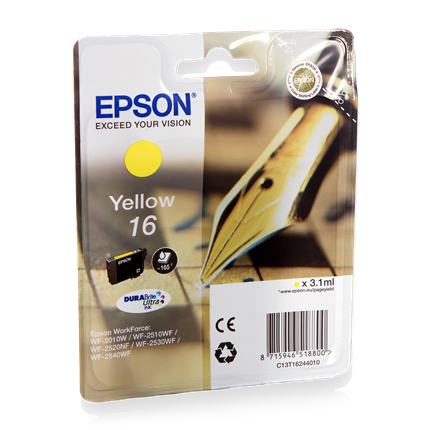 Epson Cartridge 16 (T1624) Geel