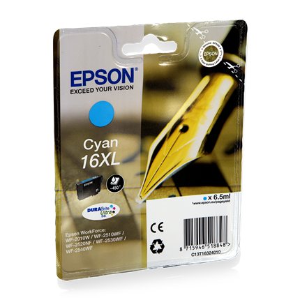 Epson Cartridge 16 XL (T1632) Cyaan