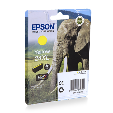 Epson Cartridge 24 XL (T2434) Geel