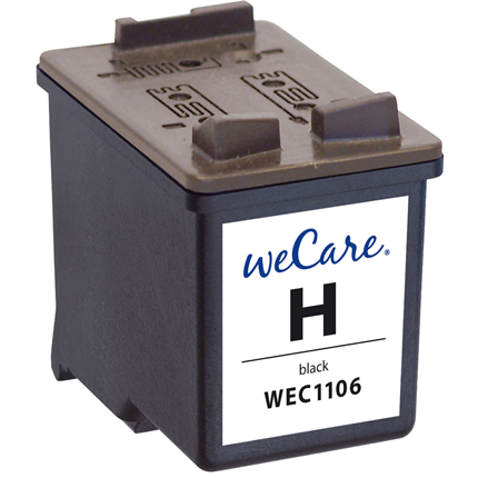 weCare Cartridge compatible met HP 21 Zwart