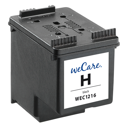 weCare Cartridge compatible met HP 300XL Zwart