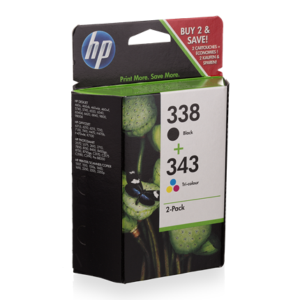 HP 338+ 343 2-Pack