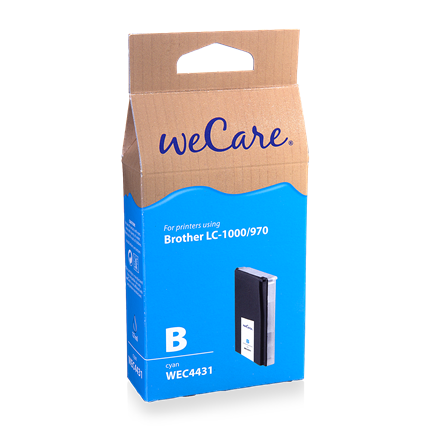 weCare Cartridge Brother LC1000/970 Blauw