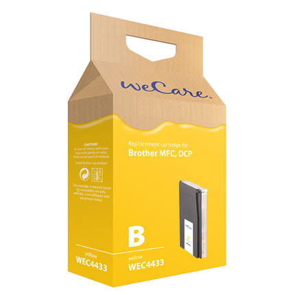 weCare Cartridge Brother LC1000/970 Geel