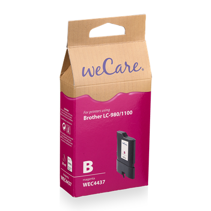 weCare Cartridge Brother LC980/1100 Rood