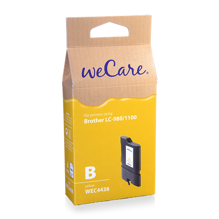 weCare Cartridge Brother LC980/1100 Geel