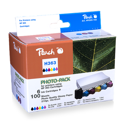 Peach Cartridge compatible met H363 Combipack