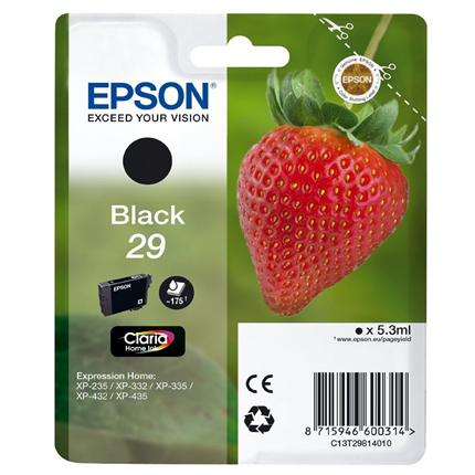 Epson Cartridge 29 (T2981) Zwart
