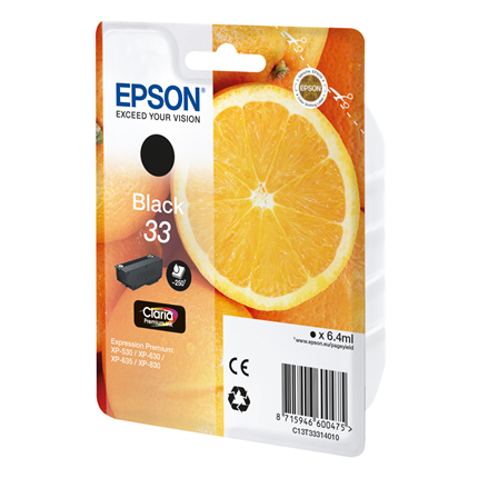 Epson Cartridge 33 (T3331) Zwart