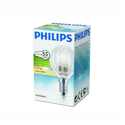 halogeenlamp E14 42W 630Lm kogel