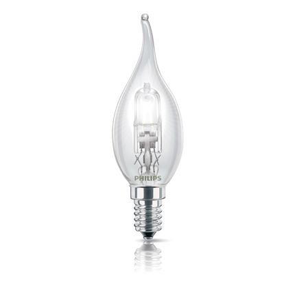 halogeenlamp E14 18W 204Lm kaars met tip