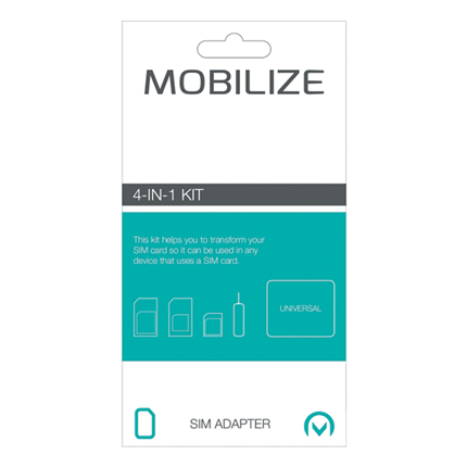 Mobilize Sim Adapter Set 3 Types
