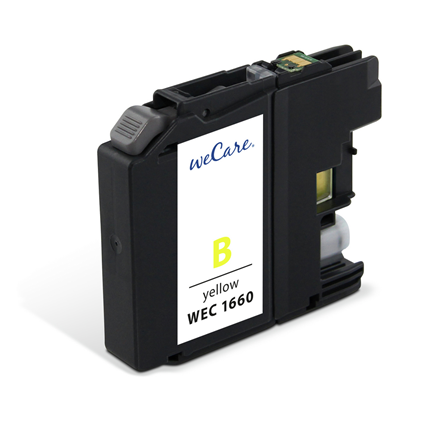 weCare Cartridge Brother LC123 Geel