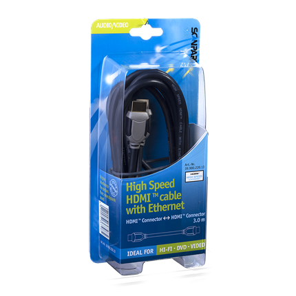 Scanpart HDMI kabel+ Ethernet 3m