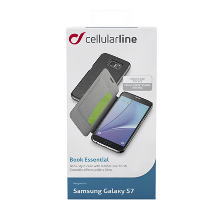 Cellular Line Samsung Bookcase Book Essential Zwart Galaxy S7